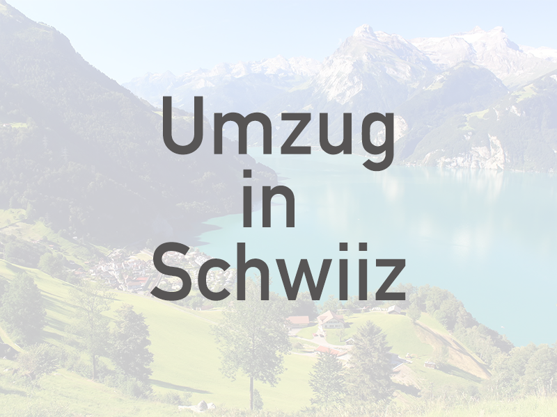 Umzug in Schwiiz